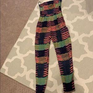 Mara Hoffman size 0 strapless jumpsuit